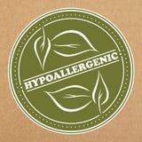 Insignia hipoalérgica, icono, disposición de la etiqueta engomada stock de ilustración