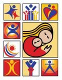 Insignia-Iconos de la gente Foto de archivo