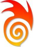 Insignia ideal de la llama Fotografía de archivo libre de regalías