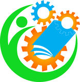 Insignia industrial de la educación Imagen de archivo