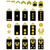 Insignia of the Iranian Army Stock Photo