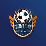 Insignia Logo Design Templates del fútbol del fútbol   Deporte Team Identity Vector Illustrations aislado en el fondo blanco libre illustration