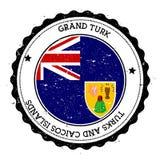 Insignia magnífica de la bandera de Turk Island libre illustration