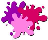 Insignia mojada del Web de la salpicadura de la pintura ilustración del vector