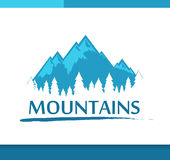 Insignia with Mountains and Forest Stock Photography