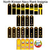Insignia Navy North Korean army Stock Image