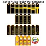 Insignia Navy North Korean army Stock Image