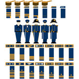 Insignia Navy officers of the Confederacy Royalty Free Stock Images