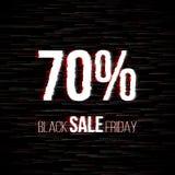 Insignia negra de la venta de viernes con efecto de la interferencia Imagen de archivo libre de regalías