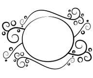 Insignia negra decorativa del Web page ilustración del vector