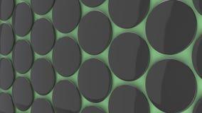 Insignia negra en blanco en fondo verde Imagen de archivo