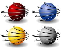Insignia única de las bolas de la esfera del alambre Imagen de archivo