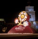 Insignia oficial para el EURO 2012 de la UEFA. foto de archivo libre de regalías