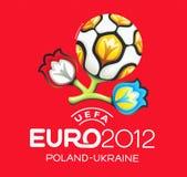Insignia oficial para el EURO 2012 de la UEFA Imagen de archivo libre de regalías