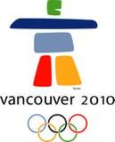 Insignia olímpica de Vancouver 2010 Imagenes de archivo