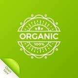 Insignia orgánica con aquí el elemento abierto Fotos de archivo libres de regalías