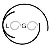 Insignia oval abstracta Imagen de archivo