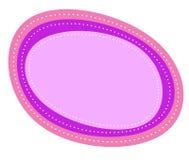 Insignia oval púrpura rosada abstracta libre illustration