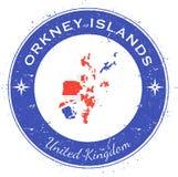 Insignia patriótica circular de las Islas Orcadas ilustración del vector