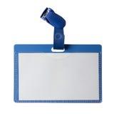 Insignia plástica aislada en el fondo blanco Imágenes de archivo libres de regalías