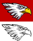 Insignia principal de la mascota del águila Foto de archivo libre de regalías