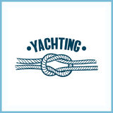 Insignia que navega con la cuerda Foto de archivo libre de regalías
