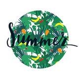 Insignia redonda de las letras tropicales Fotografía de archivo libre de regalías