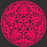 Insignia redonda rosada Fotografía de archivo
