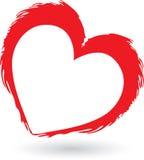 Insignia roja del corazón Imagenes de archivo