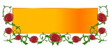 Insignia roja del Web page del oro de Rose Fotos de archivo
