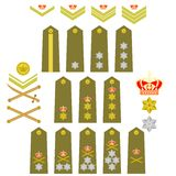 Insignia of the Royal Greek Army Stock Photos