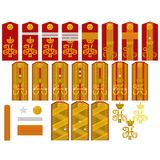 Insignia of the Russian Imperial Army Stock Photos