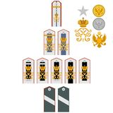 Insignia of students of the Imperial Military Medical Academy Stock Photography