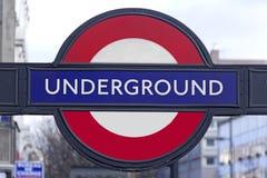 Insignia subterráneo en Londres Imagen de archivo