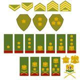 Insignia Syrian army Royalty Free Stock Images