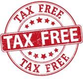 Insignia texturizada ronda exenta de impuestos roja del sello de goma Imágenes de archivo libres de regalías
