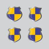 Insignia theme shield Stock Photos