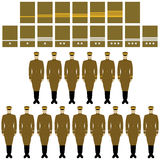 Insignia and uniform of the Imperial Japanese Army Stock Photos