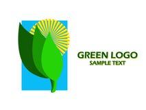 Insignia verde Fotografía de archivo