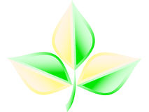 insignia verde de la ecología   Foto de archivo libre de regalías