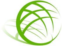 Insignia verde de la tierra stock de ilustración