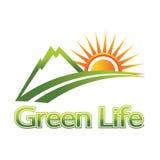 Insignia verde de la vida Fotografía de archivo libre de regalías