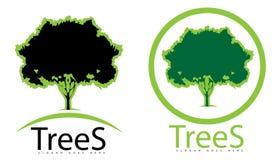 Insignia verde del árbol Fotos de archivo