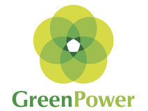 Insignia verde Power2 Imagen de archivo