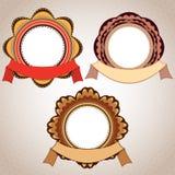 Insignia y cinta retras stock de ilustración