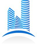 Insignia y modelo -2 de las propiedades inmobiliarias Imágenes de archivo libres de regalías