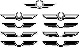 insignias που τίθενται Στοκ Εικόνες