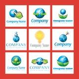 Insignias cómodas de la compañía de Eco Stock de ilustración