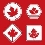 Insignias canadienses Imagenes de archivo