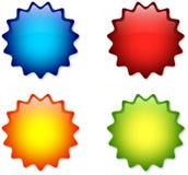 Insignias coloridas Foto de archivo libre de regalías